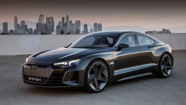 внешность электро-спорткара Audi E-Tron GT