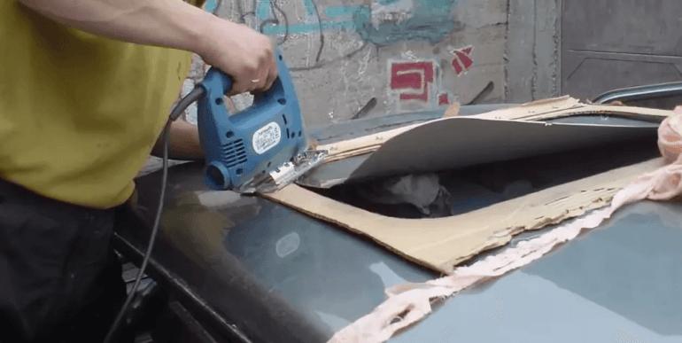 Самостоятельная установка люка в автомобиль