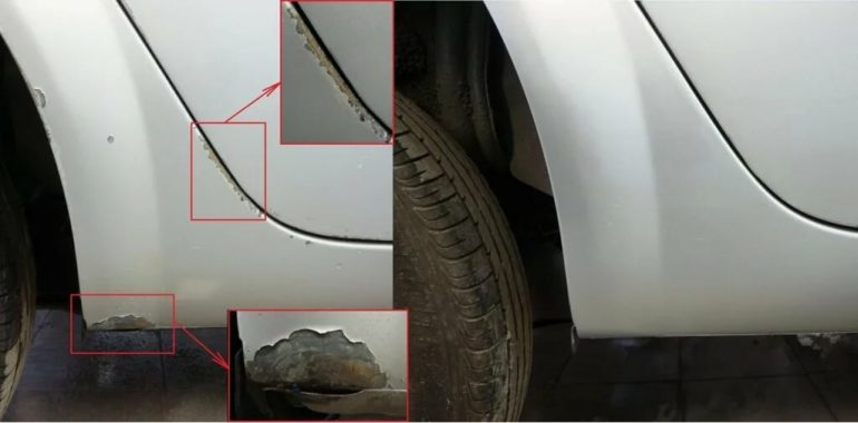 Сколы царапины ржавчина на авто