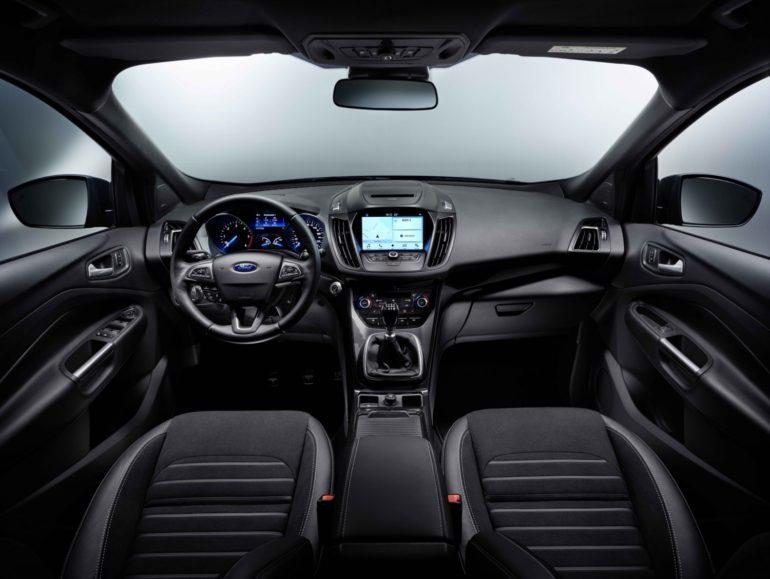 Обзор Ford Kuga 2016 салон спереди