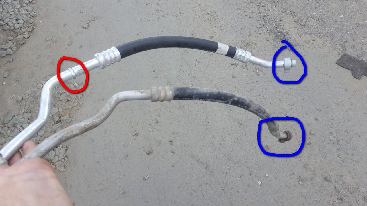 Состояние трубок кондиционера авто