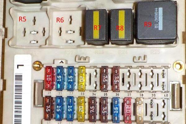 Предохранители Форд Фокус 1 и реле с описанием назначения и электросхемами автомобиля