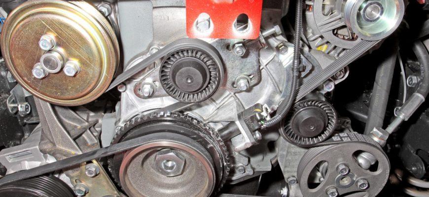 Шевроле Нива — проверка состояния и замена ремня привода вспомогательных агрегатов